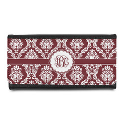 Maroon & White Leatherette Ladies Wallet (Personalized)
