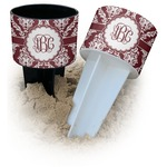 Maroon & White Beach Spiker Drink Holder (Personalized)