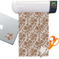 Lace Pattern Sticker Vinyl Sheet (Permanent)