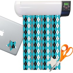 Argyle Pattern Sticker Vinyl Sheet (Permanent)