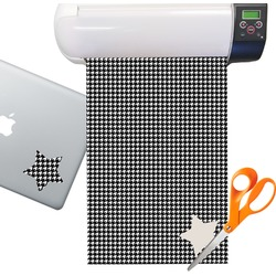 Houndstooth Pattern Sticker Vinyl Sheet (Permanent)