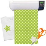 Polka Dots Pattern Heat Transfer Vinyl Sheet (12