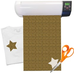 "Leopard Pattern Heat Transfer Vinyl Sheet (12""x18"")"