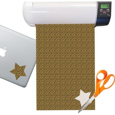 Leopard Pattern Sticker Vinyl Sheet (Permanent)