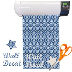 Damask Pattern Vinyl Sheet (Re-position-able)