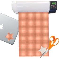 Gingham Pattern Sticker Vinyl Sheet (Permanent)