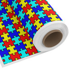 Autism Puzzle Custom Fabric by the Yard