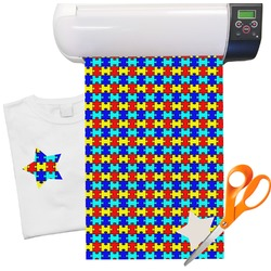 Autism Puzzle Pattern Heat Transfer Vinyl Sheet (12