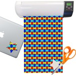Autism Puzzle Pattern Sticker Vinyl Sheet (Permanent)