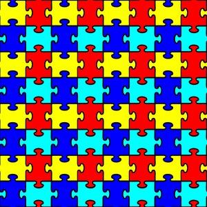 Autism Puzzle Pattern
