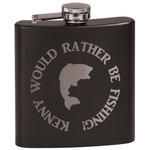 Fish Black Flask Set (Personalized)