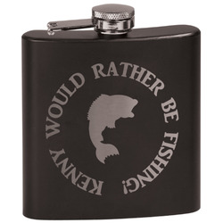 Fish Black Flask (Personalized)