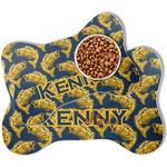 Fish Bone Shaped Dog Food Mat (Personalized)