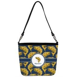 Fish Bucket Bag w/ Genuine Leather Trim (Personalized)