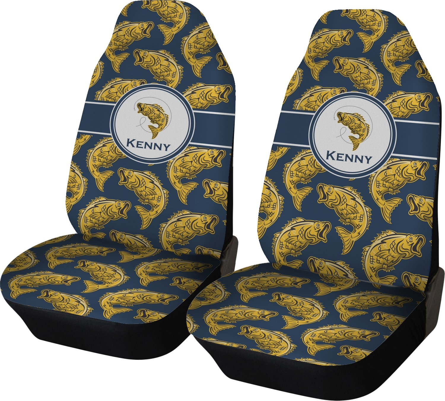 Fish Car Seat Covers Set Of Two Personalized