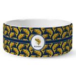 Fish Ceramic Dog Bowl (Personalized)