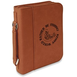 Fish Leatherette Book / Bible Cover with Handle & Zipper (Personalized)