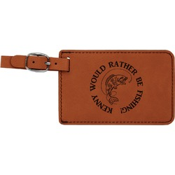 Fish Leatherette Luggage Tag (Personalized)