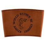 Fish Leatherette Mug Sleeve (Personalized)