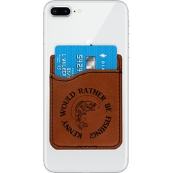 Fish Leatherette Phone Wallet (Personalized)