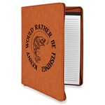 Fish Leatherette Zipper Portfolio with Notepad (Personalized)