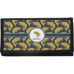 Fish Canvas Checkbook Cover (Personalized)