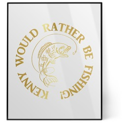 Fish 8x10 Foil Wall Art - White (Personalized)