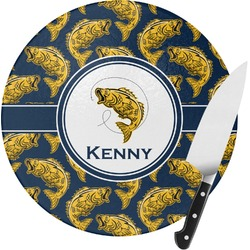 Fish Round Glass Cutting Board (Personalized)