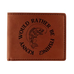 Fish Leatherette Bifold Wallet (Personalized)