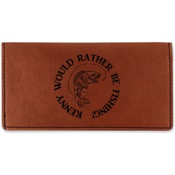 Fish Leatherette Checkbook Holder (Personalized)