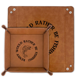 Fish Faux Leather Valet Tray (Personalized)