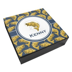 Fish Leatherette Keepsake Box - 8x8 (Personalized)