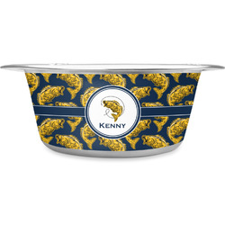 Fish Stainless Steel Pet Bowl - Medium (Personalized)