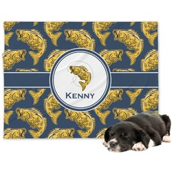 Fish Minky Dog Blanket (Personalized)