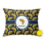 Fish Outdoor Throw Pillow (Rectangular) (Personalized)