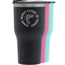 Fish RTIC Tumbler - Black (Personalized)