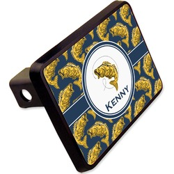 """Fish Rectangular Trailer Hitch Cover - 2"""" (Personalized)"""