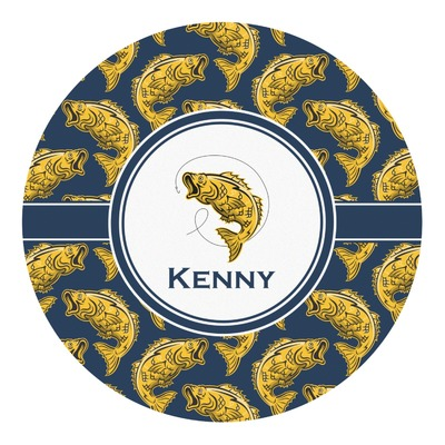 Fish Round Decal (Personalized)