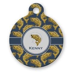 Fish Round Pet Tag (Personalized)