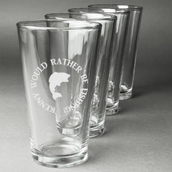 Fish Beer Glasses (Set of 4) (Personalized)
