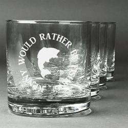 Fish Whiskey Glasses (Set of 4) (Personalized)