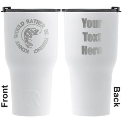Fish RTIC Tumbler - White - Engraved Front & Back (Personalized)
