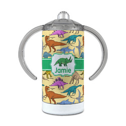 Dinosaurs 12 oz Stainless Steel Sippy Cup (Personalized)