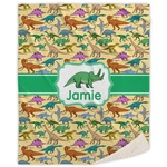 Dinosaurs Sherpa Throw Blanket (Personalized)