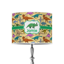 """Dinosaurs 8"""" Drum Lamp Shade - Poly-film (Personalized)"""