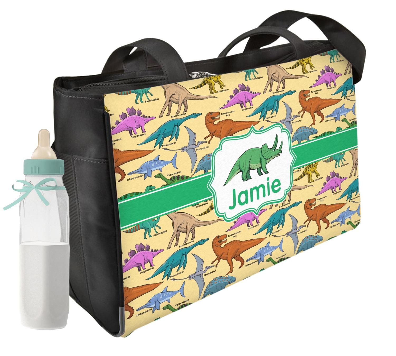 Dinosaurs Diaper Bag Personalized