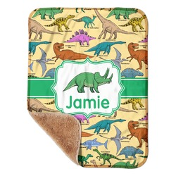 "Dinosaurs Sherpa Baby Blanket 30"" x 40"" (Personalized)"