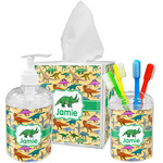 Dinosaurs Acrylic Bathroom Accessories Set w/ Name or Text