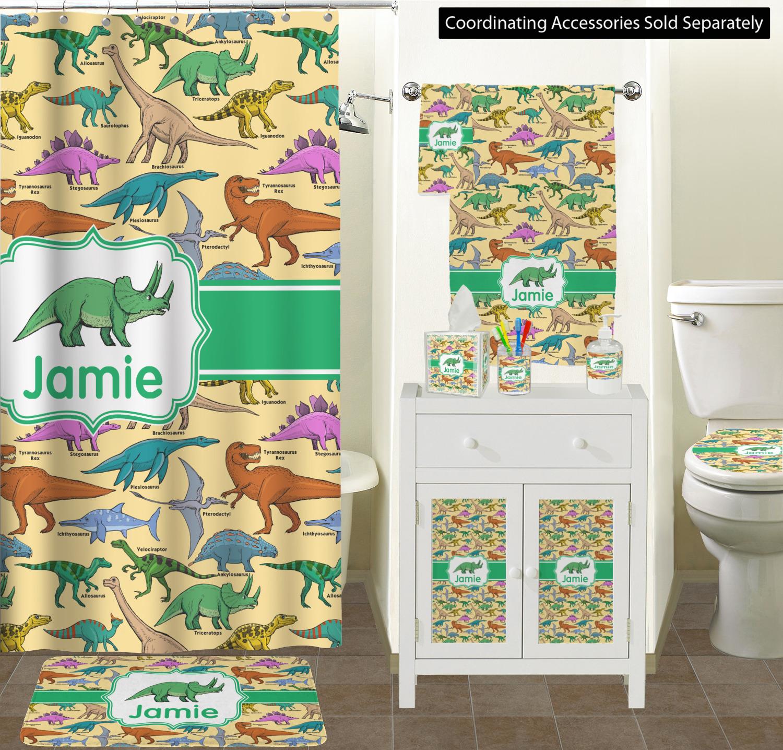 Dinosaurs Bathroom Accessories Set Personalized Youcustomizeit