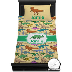 Dinosaurs Duvet Cover Set - Twin XL (Personalized)